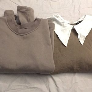 Two Zara sweatshirt